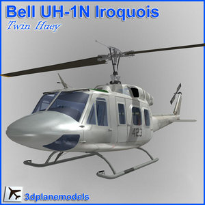 uh-1n huey helicopter 3d model