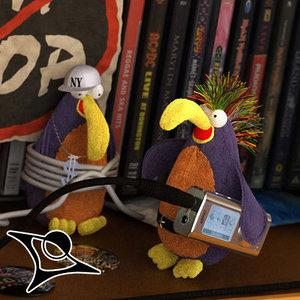 toy parrot 3d max