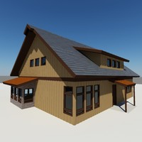 country cabin garage home 3d ma