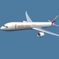 3d model a350-1000 emirates