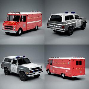 911 truck 3d model