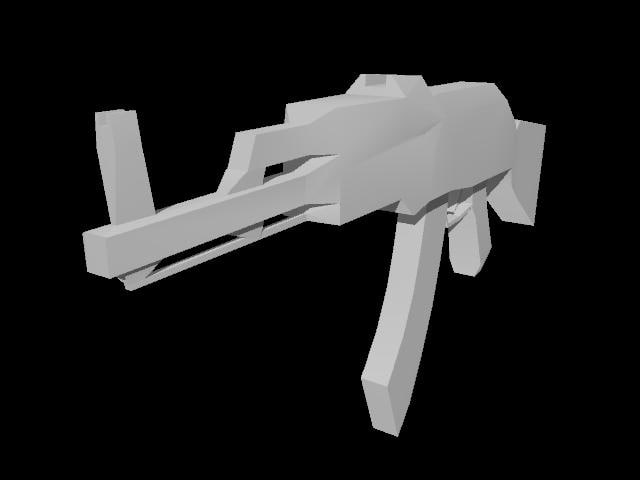 free 3ds model ak47 rifle