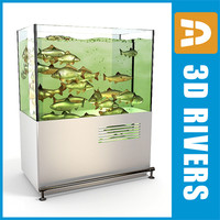 3d aquarium live fish model