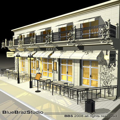bistrot restaurant table 3d model