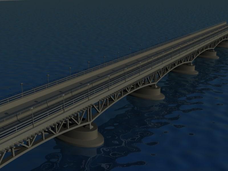bridge seascape 3d max
