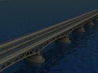 bridge seascape 3d max