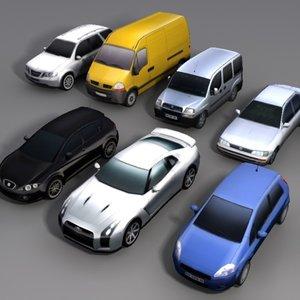3d cars nissan seat model