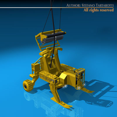 submarine cables deploy robot 3d model