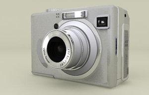 generic point shoot camera 3d model