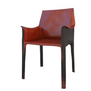 3d leather dining
