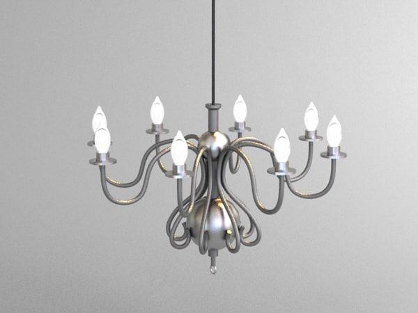 hanging chandelier 3d model