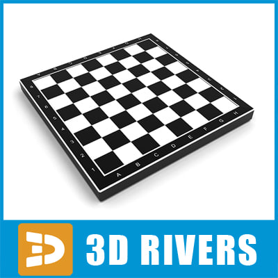 3d chessboard chess board model