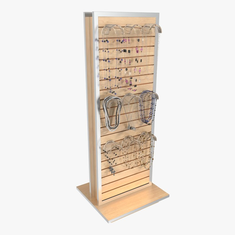 3d model necklace rack