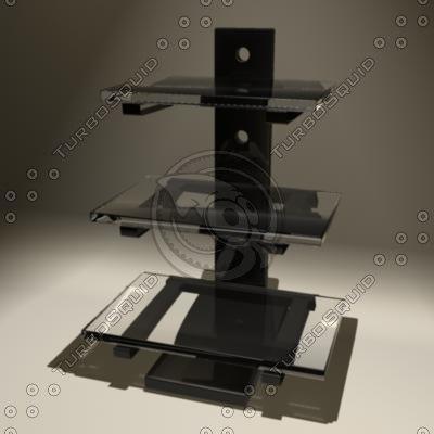3d model component shelf entertainment center