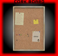cork board 3d 3ds