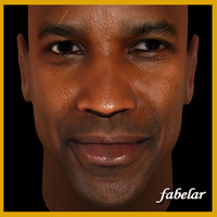 3d model denzel washington head