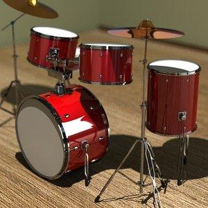 instrument drumset 3ds