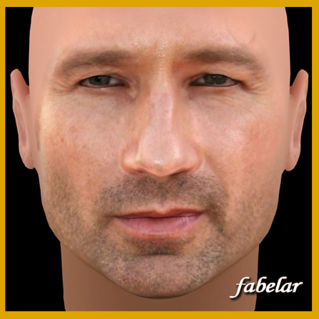 3d david duchovny head model