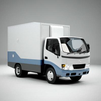 3d small city van