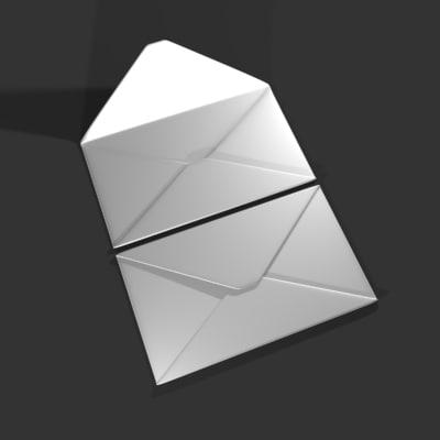 3d envelope letter