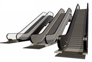 3d escalators stairs