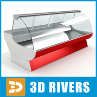 display freezer 3d model