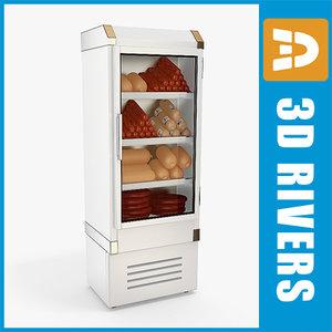 3ds max refrigerating sausages freezer