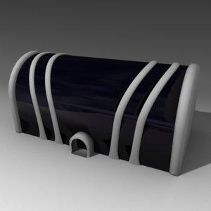 blender futuristic house