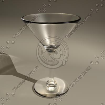 3d model of martini glass