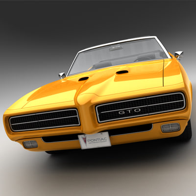 3ds 1969 pontiac gto convertible