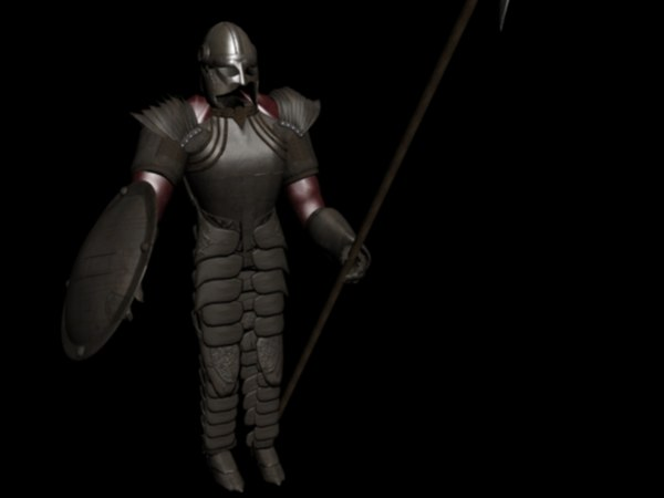 knight warrior 3d model