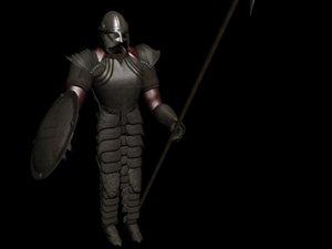 knight warrior 3d model