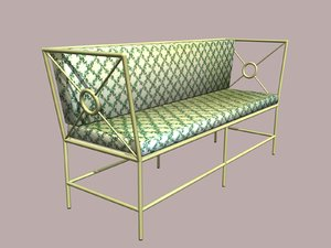 3d wrought iron sofa