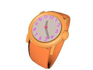 free wristwatch watch 3d model