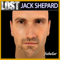 jack shepard head 3d max