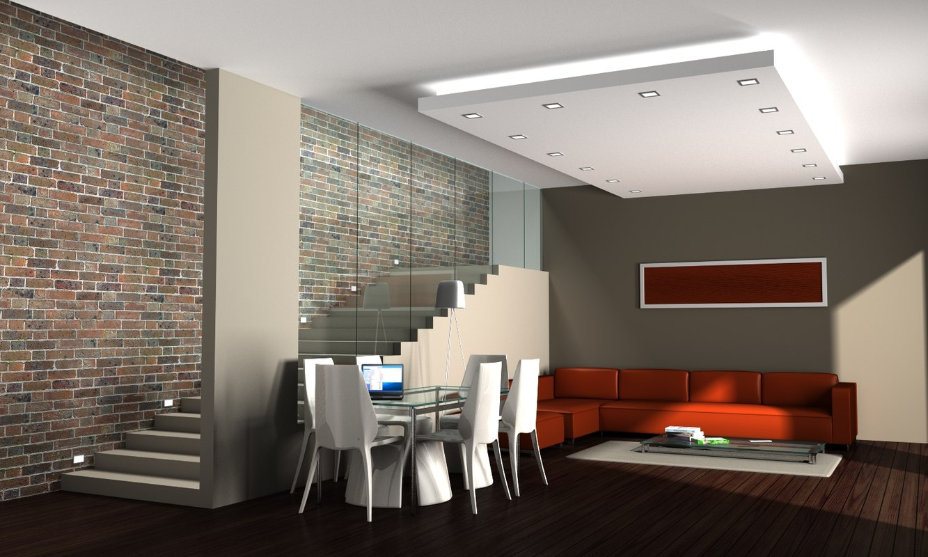 3ds max living room for The living room 002
