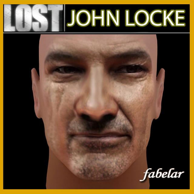 3d model john locke o head