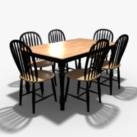 3ds dining room table chairs
