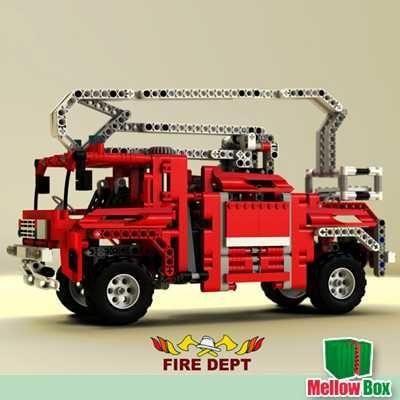 lego firetruck 3d max