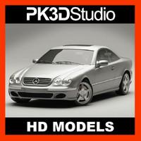 mercedes cl500 3d model