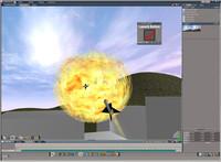 Missiles vs UFO Scene