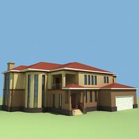modern architecture mansion 3d max
