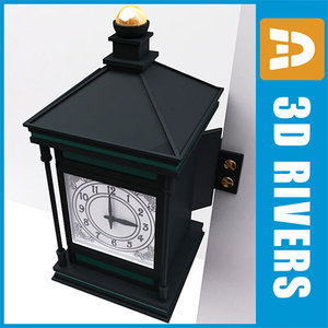 wall clock old time 3d max