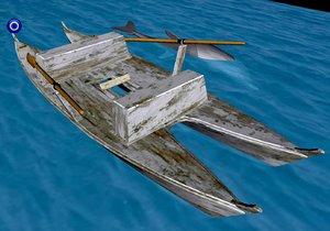 3d model pattino dolphin