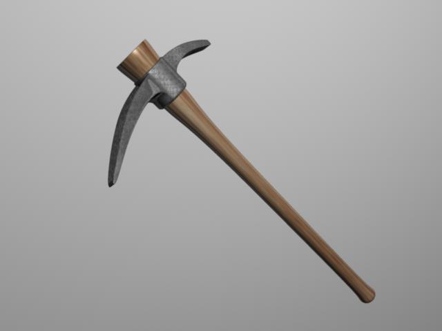 3d pickaxe model