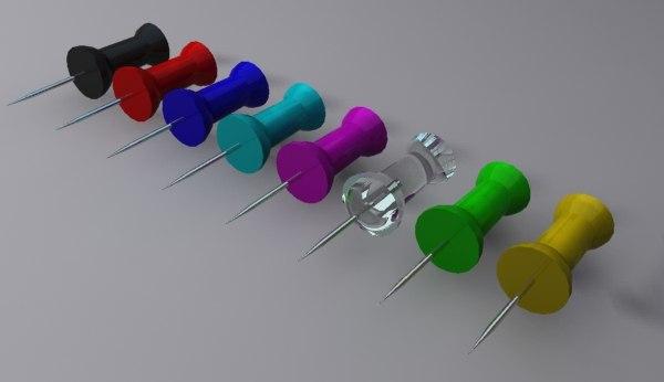 push pin 3d max