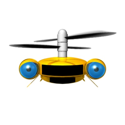 propeller robot 3d ma