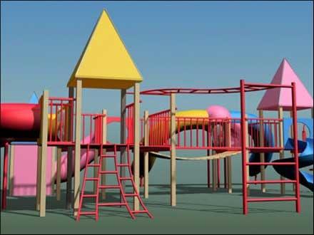 playground play 3d model