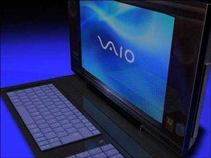 3d model sony laptop computer vaio