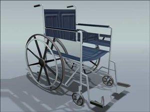 3d wheelchair wheel chair model